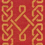 Celtic Knot  red and gold II