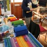 Weaving workshop in action